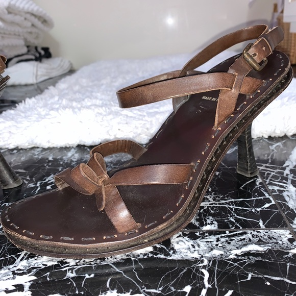 Fendi Shoes - Fendi Leather Brown Heels